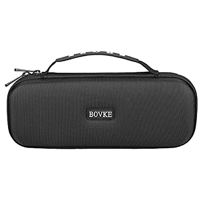 BOVKE Carrying Case for 3M Littmann Classic III Stethoscope - Extra Room for Taylor Percussion Reflex Hammer and Reusable LED Penlight, Black