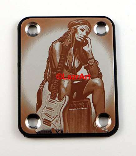 Laser Girl 629 - sexy, Fender style, engraved guitar neck plate (Engraved Neck Plate)