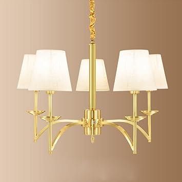 AuBergewohnlich MMM  Europäischen Stil Kronleuchter, Kupfer Lampe Körper Tuch Lampenschirm  E14 Kronleuchter (hängenden Kette