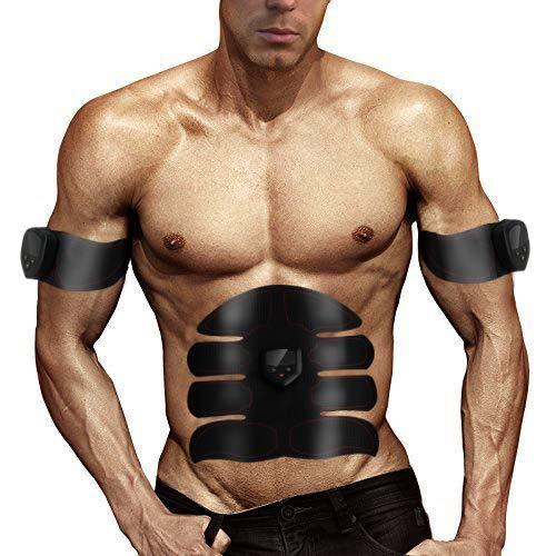 Massage Musculaire Homme Femme KISSION Entra/înement des Muscles Abdominaux Perte de Poids /Électrostimulateur Bras Abdominal Stimulateur Musculaire