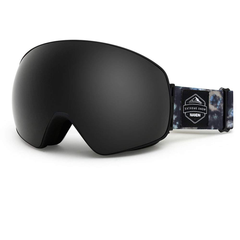 Ski Glasses Anti-Fog Double Adult ski Goggles Men and Women Equipment Large Spherical khika Myopia (Edition : A) ZCF
