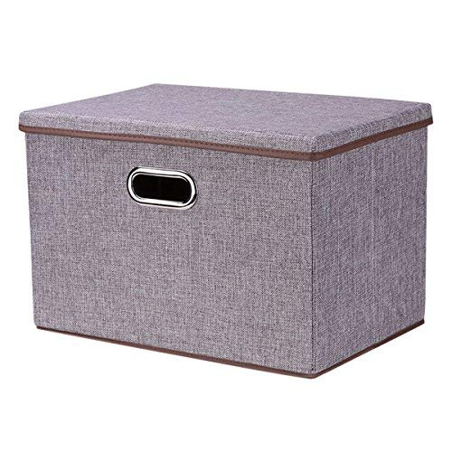 18x12x12 Collapsible Storage Cube Foldable Box Drawers Basket Bins with Lid Storage Containers Organizer Shelf