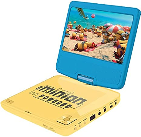 Amazon.es: Minions GRU-Lector DVD portátil con Puerto USB y Mando, giratoria, Pantalla 17, 78 cm (Lexibook DVDP6DES), 30 x 25.9 x 14 cm (