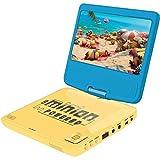 Lexibook Lecteur DVD portable Moi, Moche et Méchant, avec port USB, Bleu/Jaune, DVDP6DES