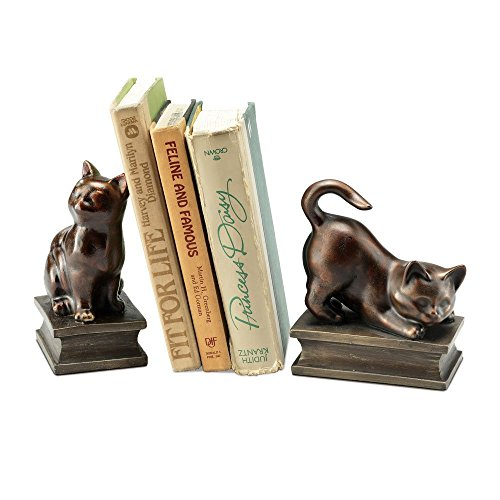 SPI Home Playing Cat Resin Bookend Pair ()