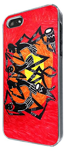 832 - African Art cool fun print Design iphone 4 4S Coque Fashion Trend Case Coque Protection Cover plastique et métal