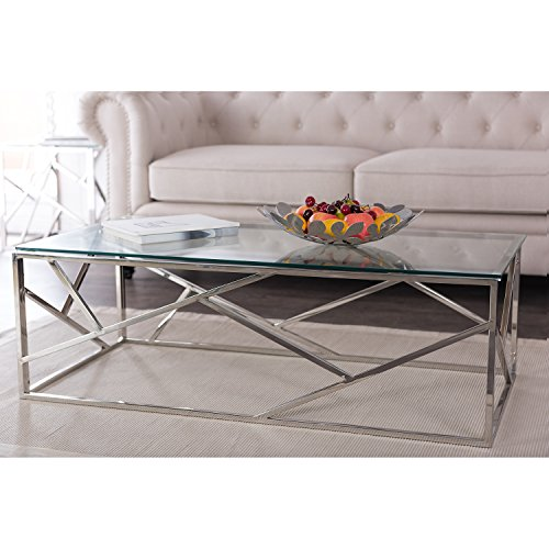 Wholesale Interiors Baxton Studio Coffee Table with Tempered Glass (Wholesale Interiors Glass Coffee Table)