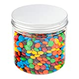 Restaurantware Retail Candy & Snack Jar with Aluminum Lid 17 oz 100 Count Box, Large, Clear