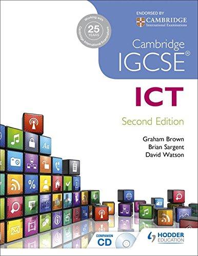 Cambridge IGCSE ICT 2nd Edition