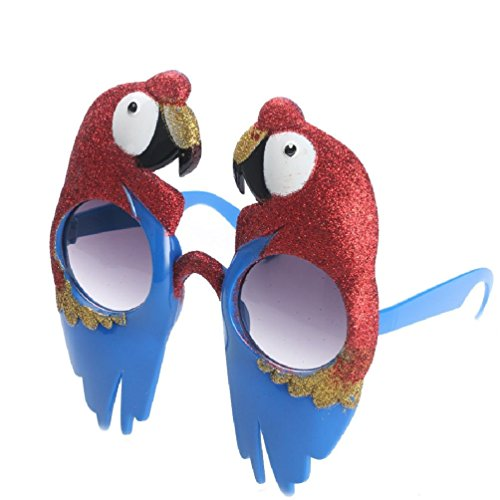 Blue Macaw Bird Costume (Parrot Bird Glasses Scarlet Macaw Costume Props Fancy Dress Creative Festive Party Supplies Event Decoration)
