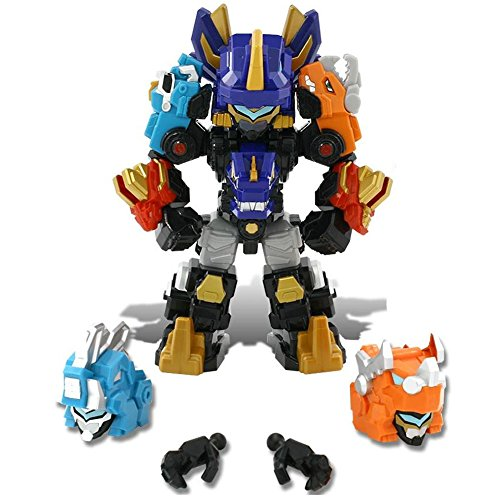 Dino Core Mini Ultra D-Saber Tyranno 3 Stages Transformable Robot Composed Joint Action Figures 8 inch Holiday Birthday Robots Dinosaur Toys for Kids
