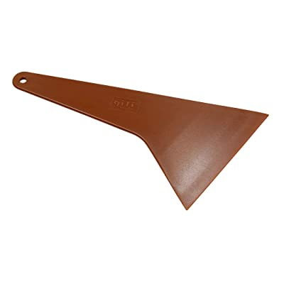 X AUTOHAUX Brown Windshield Window Ice Scraper Snow Shovel Wiper for Car Vehicle: Automotive