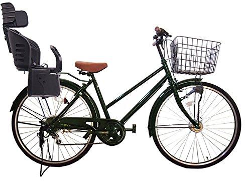 Lupinusルピナス 自転車 26インチ LP-266TA-knrj-bk シティサイクル シマノ製外装6段ギア オートライト 樹脂製後子乗せブラック B073LPFD1K グリーン グリーン