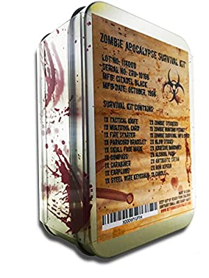 Zombie Apocalypse Survival Kit by Citadel Black - Knife, Multi-tool, Fire Starter, Skull Mask, Zombie Hunting Permit, First Aid, And More from Citadel Black