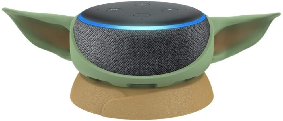 Echo Dot (3rd Gen) Charcoal With Manalorian The Child Stand