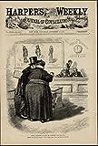 Public School Education Teachers' Salaries Nast 1874 great old print for display