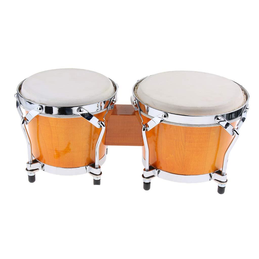 Flameer Professional African Bongo Hand Drum 6.5cm & 8.5cm Diameter Children Toy