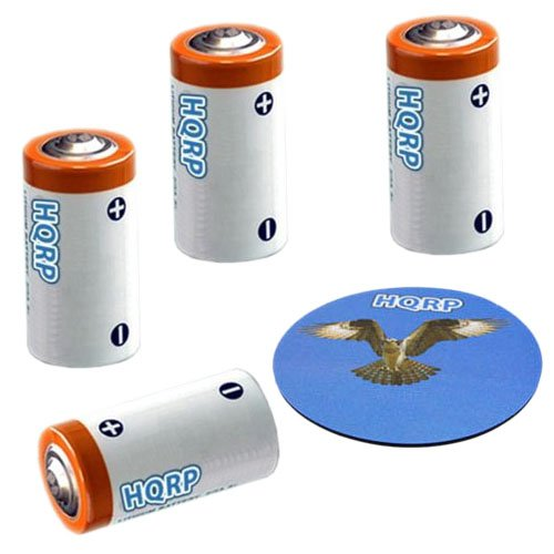 Tri Tronics Bark Limiter - HQRP 4-Pack 3V Batteries for Tri-Tronics Bark Limiter G3, Bark Limiter XS, Dog Sport Junior G3 + HQRP Coaster