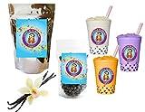 10+ Drinks Vanilla Latte Boba Tea Kit: Tea Powder, Tapioca Pearls & Straws By Buddha Bubbles Boba