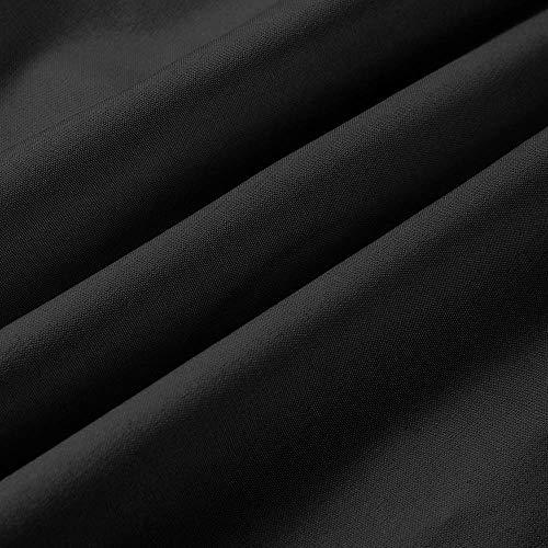 Bandoulière à Noir et à Casual Longues Chemise Bouton Manches Tops Bandage Manches à Beikoard Shirt Boutonnée Bas Longues FHTIF