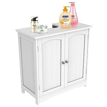 Admirable Yaheetech Bathroom Under Sink Storage Cabinet In White Vanity Basin Unit Cupboard Floor Standing Home Interior And Landscaping Eliaenasavecom