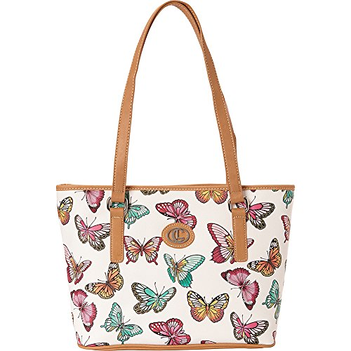 Aurielle-Carryland Butterfly Print Tote (Multi)