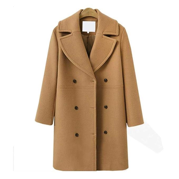 Abrigo de Lana de Gran tamaño para Mujer, otoño e Invierno, sección Larga - Rebeca - Moda Casual: Amazon.es: Ropa y accesorios