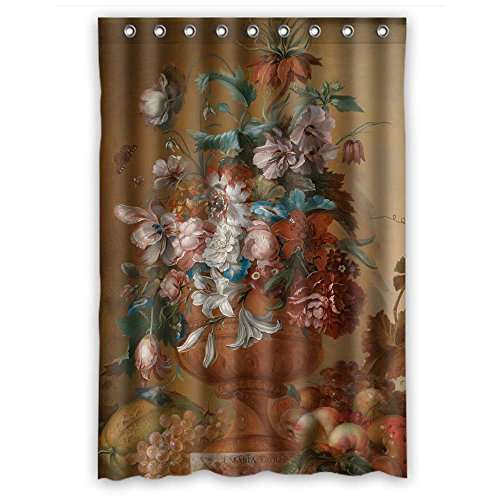 Eel Camel (Polyester Famous Classic Art Painting Flowers Blossoms Bathroom Curtains Width X Height / 48 X 72 Inches / W H 120 By 180 Cm Gift Or Decor For Lover Father Custom Relatives Husband. Modern Design)