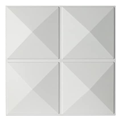 Art3d Eco 3D Wall Panels Textured Design Board White 12 Tiles 32 Sq Ft