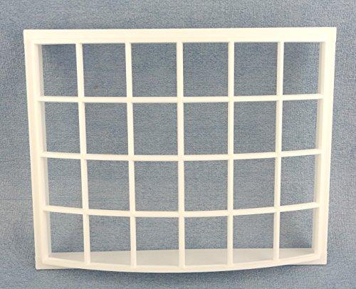 Melody Jane Dolls House White Plastic Georgian Bay Bow Window 24 Pane 1:12 DIY Builders -