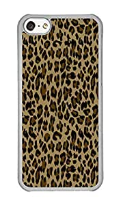 Iphone 5C Case Trendy Leopard Print Clear PC Hard Case For Apple Iphone 5C