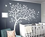 white tree decals - Studio Quee White Tree Wall Decals Wall Tattoo Large Nursery Tree Decals Wall Mural Removable Vinyl Wall Sticker KW032R