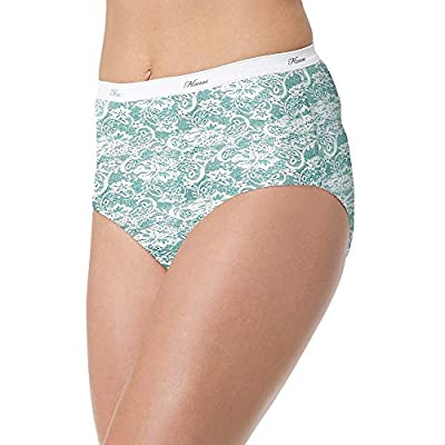 Hanes Women's No Ride Up Cotton Brief 6-Pack_Lace_Size 9
