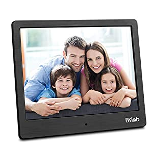 "Digital Picture Frame 8"" Digital Photo Frame Electronic Pictures Frame Photos Slideshow Videos Player BSIMB Black M12"
