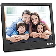 Digital Picture Frame 8 Inch Remote Control 1024x768 Digital Photo Frame Support Picture/Video/Calendar/Clock Maximum Extend to 256G BSIMB Black M12