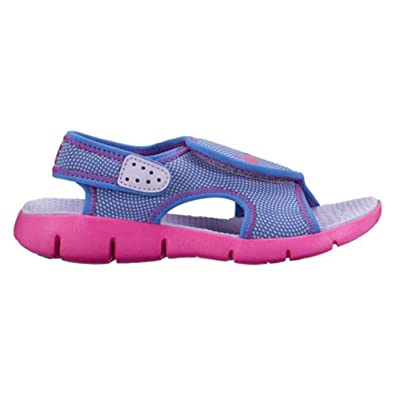 Nike Girl's Sunray Adjustable 4 (TD) Toddler Sandal (2 Infant M, Hydrangeas