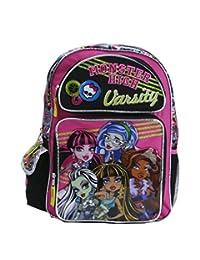 "Monster High Backpack - Pink Varsity 16"" Large & lunch box Girls School Book Bag Frankie"
