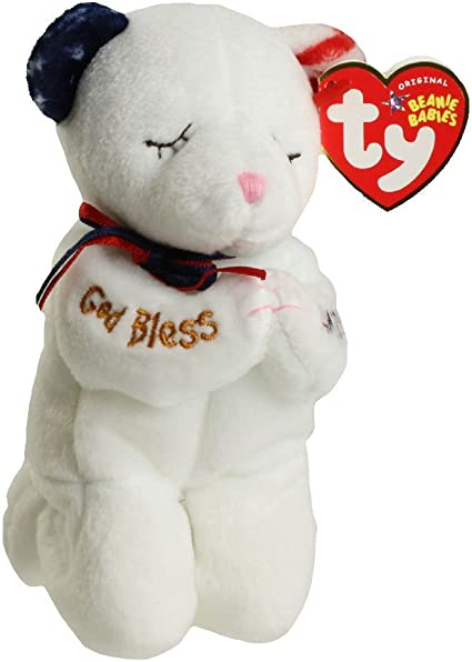 MWMT Internet Exclusive RED Ty Beanie Baby ~ AMERICA the Bear 8.5 Inch