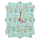 Deny Designs  Ali Benyon, Love Is, Quatrefoil Clock, Medium
