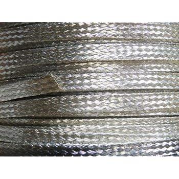 "25 Ft/' Flat Braided braid pure Copper Wire 1//8/"" Wide Ground Strap USA"