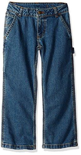 Boys Pants Carhartt (Carhartt Big Boys' Denim Dungaree Pant, Medium Wash, 16)