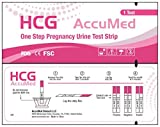 AccuMed 25-Count Pregnancy (HCG) Test Strips, Clear and Accurate...
