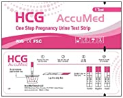 AccuMed One Step HCG Pregnancy Test Strips are manufactured to the highest quality standards and distributed for AccuMed with US support & warranty provided exclusively by Accumed.   They are 100% FDA approved and 99% accurate. The pregnancy test...