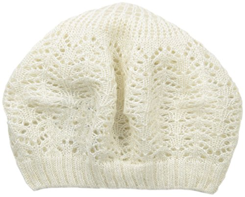 Ellen Tracy Women's Lurex Pointelle Knit Beret