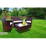 31858aa68cd0 Evre Home & Living Rattan Garden Furniture Set Patio Conservatory Indoor  Outdoor 4 piece set table
