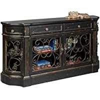 Pulaski Savannah Credenza, 62 by 14 by 34-Inch, Black/Metallic