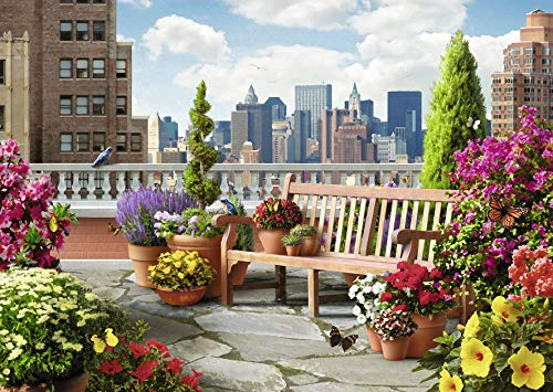Ravensburger Rooftop Garden 500 Piece Large Format Jigsaw Puzzle for Adults – Every Piece is Unique, Softclick Technology Means Pieces Fit Together Perfectly (Piece Hundred Five)