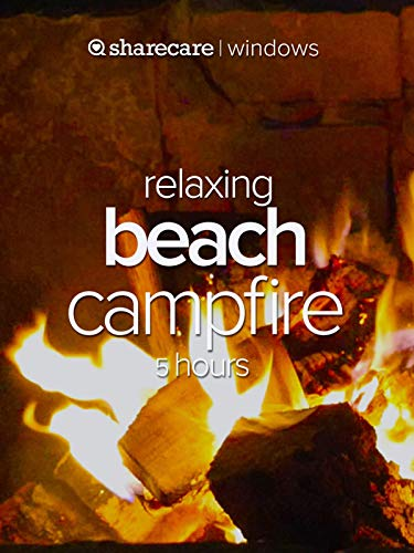 Relaxing Beach Campfire 5 hours (Waves Surf Camp)
