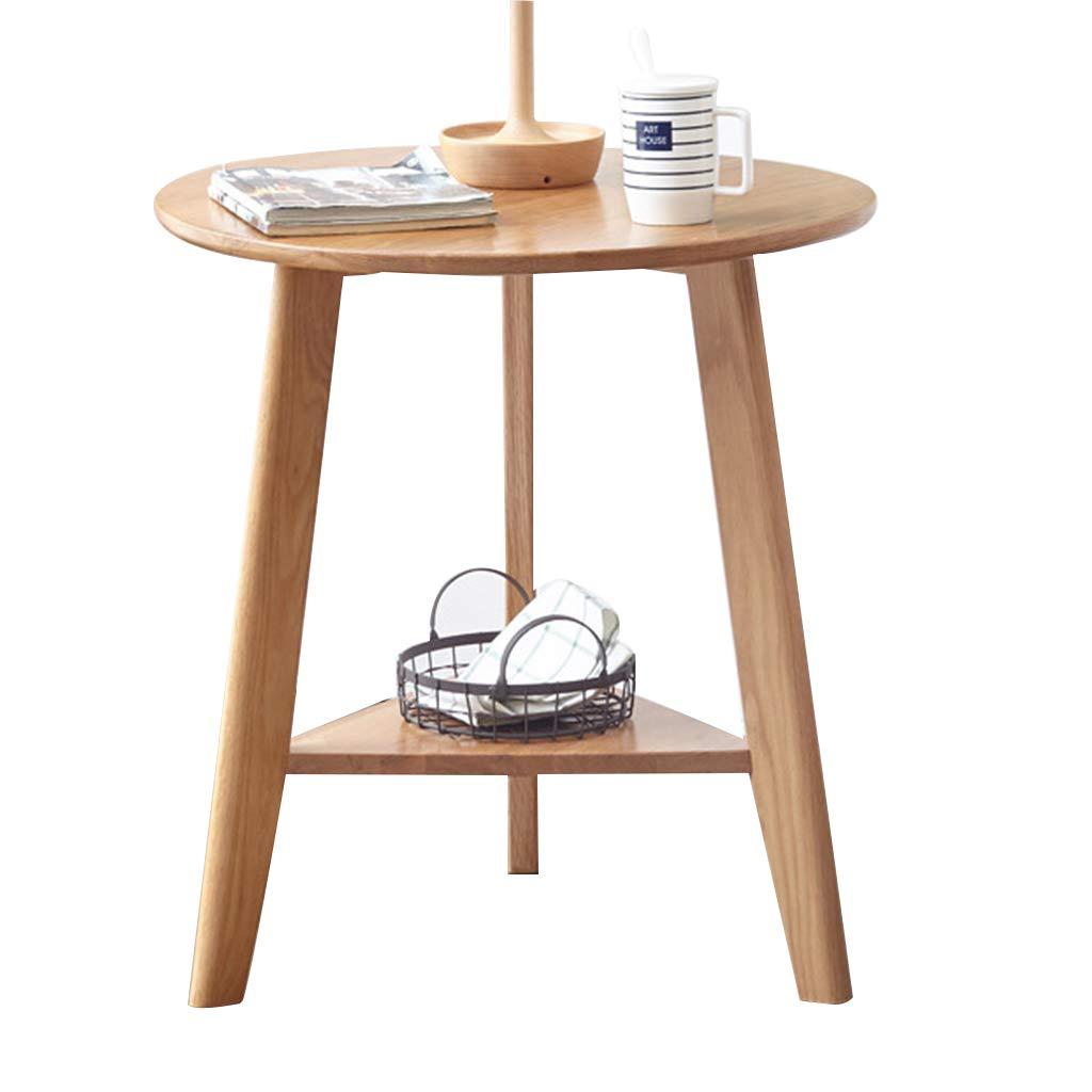 サイドテーブル ローテーブルテレフォンテーブルベッドサイドテーブル北欧スタイルソリッドウッド製エッジ三角形のリビングルームダブルグリーンソファー収納サイ カウンターテーブル (Color : Wood, Size : 60*60*65cm) B07P3HMGFB Wood 60*60*65cm