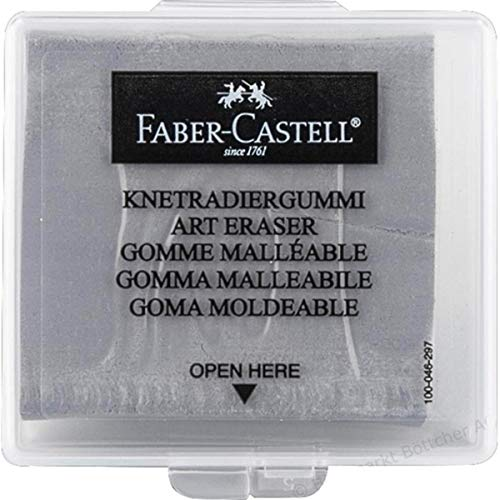- Faber-Castell 127220 Kneaded Eraser with Case, Grey